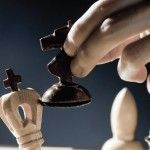 A man playing a chess