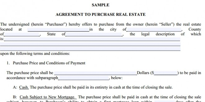 Doc575709 Property Purchase Agreement Template Real Estate – Sample Purchase Agreement for Business